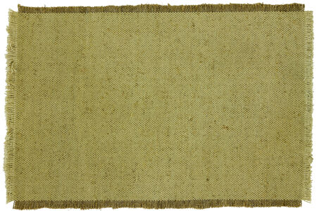 Texture, background of green coarse cloth. Blank for scrapbooking.