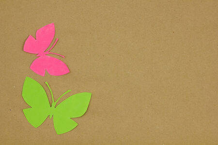 fibered: Dry plants on beige paper. Scrapbook. Background.