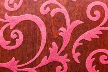 line drawings: Floral ornament, ornament in baroque style. Bright pattern on brown background.