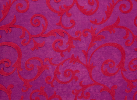 palmetto: Floral ornament, ornament in baroque style. Bright pattern on pink background.