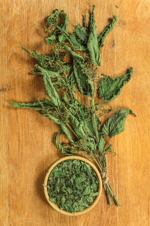 Nettle. Dried herbs for use in alternative medicine, spa, herbal cosmetics, herbal medicine, preparing infusions, decoctions, tinctures, powders, ointments, butter, tea, bath.