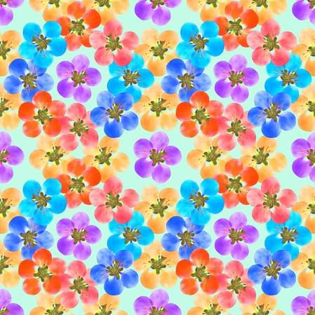 Quince, apple quince. Texture of flowers. Seamless pattern for continuous replicate. Floral background, photo collage for production of textile, cotton fabric. For use in wallpaper, covers.