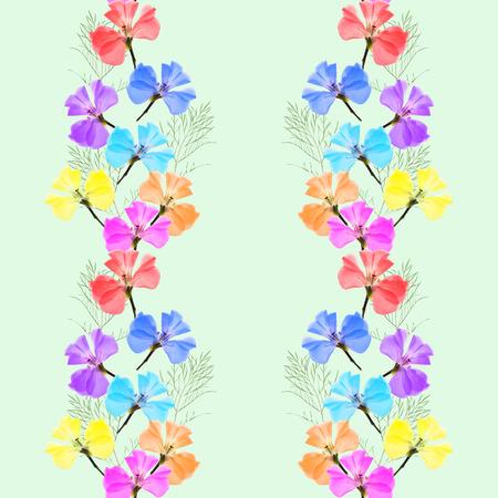 Geranium, pelargonium. Textuur van bloemen. Naadloos patroon voor continu repliceren. Bloemenachtergrond, fotocollage voor productie van textiel, katoenen stof. Voor gebruik in behang, covers