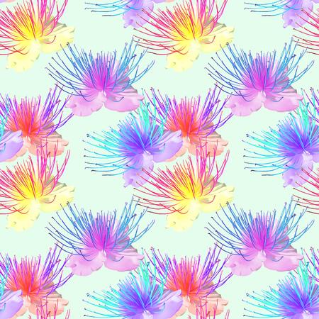 Alcaparras. Textura de flores Patrón sin fisuras para la replicación continua. Fondo floral, collage de fotos para la producción de textiles, tela de algodón. Para uso en papel tapiz, cubre