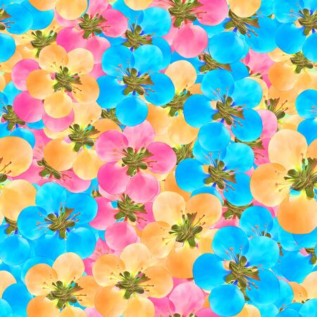 Quince, apple quince. Texture of flowers. Seamless pattern for continuous replicate.