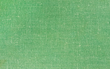Illustrative image that simulates green textile book cover. Texture pattern textile canvas.