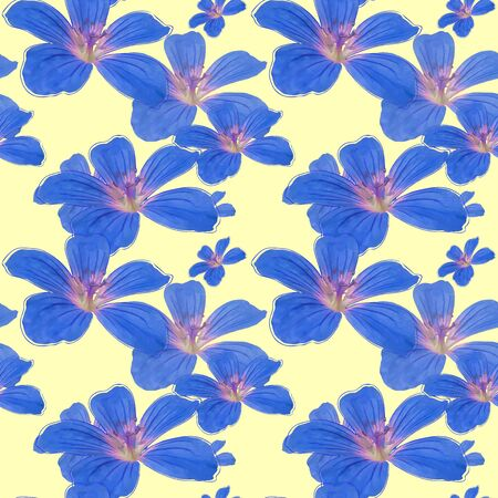Petunia. Texture of flowers. Seamless pattern for continuous replicate. Floral background, photo collage for production of textile, cotton fabric. For use in wallpaper, covers Reklamní fotografie