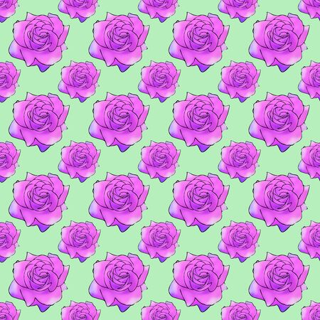 Rose, rose flower,. Texture of flowers. Seamless pattern for continuous replicate. Floral background, photo collage for production of textile, cotton fabric. For use in wallpaper, covers Reklamní fotografie