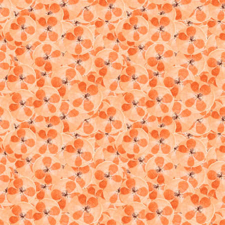 Poppy. Illustration, texture of flowers. Seamless pattern for continuous replication. Floral background, photo collage for textile, cotton fabric. For wallpaper, covers, print.