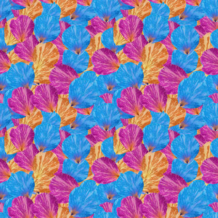 Tulip petals. Illustration, texture of flowers. Seamless pattern for continuous replication. Floral background, photo collage for textile, cotton fabric. For wallpaper, covers, print.