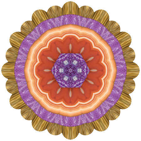 Mandala from dried pressed flowers, petals. Mandala is symbol of buddhism, hinduism, yoga. Ornament mandala with pattern floral elements in oriental style for relax and meditation.