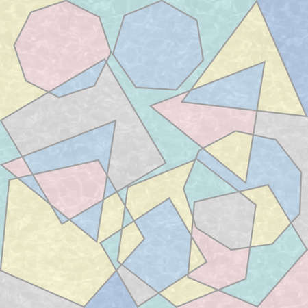 Abstract prints, creative tile surface. Polygons, abstract background. Modern mosaic wallpaper. Art deco pattern. Geometric texture. 스톡 콘텐츠