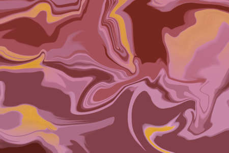 Abstract prints. Texture with marble pattern as background. Abstract picture, colorful natural stone texture. Decorative marble background. Digital painting. Marble in red, brick, reddish-brown tones. 2D Illustration. 스톡 콘텐츠