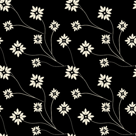 old fashioned: Vintage ornament in the style of Damask. Seamless dark background for textile, wallpaper, pattern fills, covers, surface, print, gift wrap, packaging paper, tile