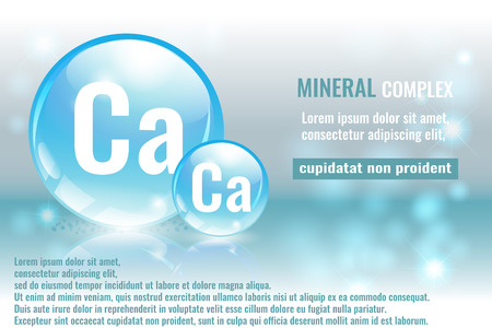Mineral ca, calcium complex with chemical element symbol vector illustration Illustration