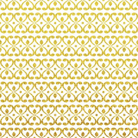 金きらびやかなシームレス パターン。現代のゴールドのスタイリッシュなテクスチャ。 写真素材