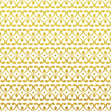 Gold glittering seamless pattern. Modern gold stylish texture.