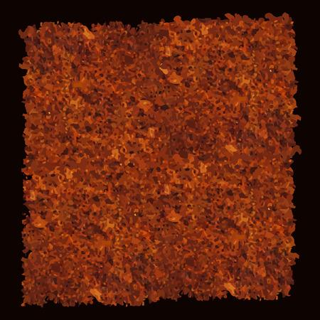 Abstract texture of dark brown rust. Vector illustration, Ilustrace