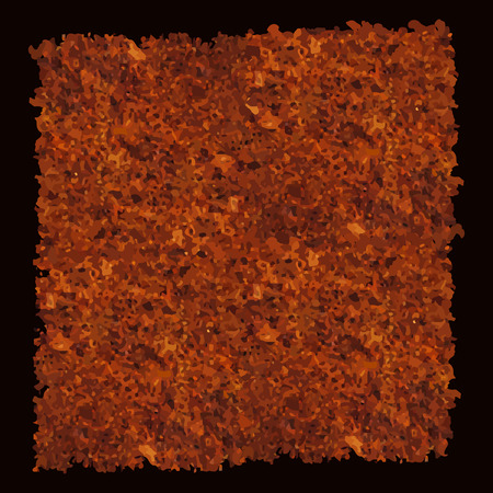 Abstract texture of dark brown rust. Vector illustration, Illustration
