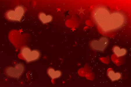 グリーティング カードの背景のバレンタインデーの背景。ベクトルバレンタインデーグリーティングカードデザインテンプレート。
