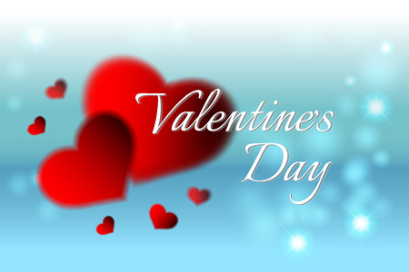 Valentines day background for greeting card background. Vector Valentines day greeting card design template.