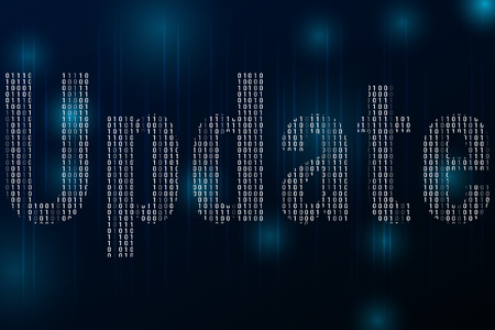 System software update and upgrade concept. Update banner template on dark background. Иллюстрация
