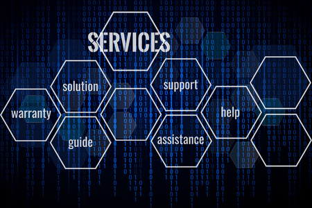 Technology services background. Abstract background for business solution. Space for text. Иллюстрация