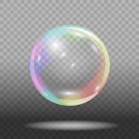 透明な背景にソープバブル ベクトル図