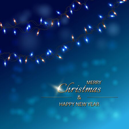 Christmas Card, Happy New Year Background. Holiday Poster, greeting cards, banner. Standard-Bild - 145201355