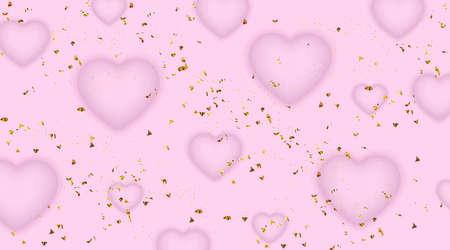 Happy Valentine's Day banner template. Illustration