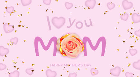 Happy Mother's day greeting card. Poster or banner for Mother's day holiday. Standard-Bild - 164104838