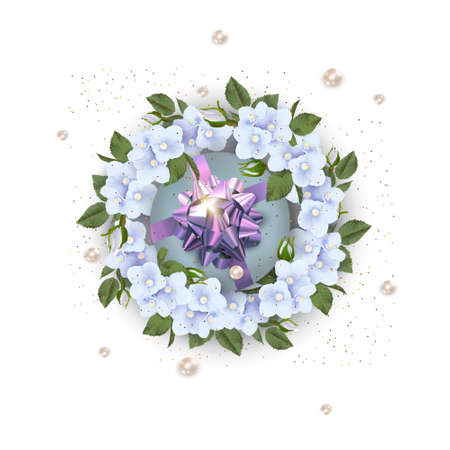 Greeting card with blossom flowers. Happy Mother's day or happy Valentine's day.