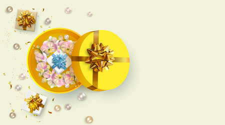 Valentine's Day, 8 march, birthday, Mother's day greeting banner. Concept for web banner, flyers, promotional sales.