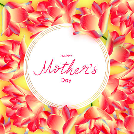 Happy Mothers Day. Spring banner.Greeting card. Reklamní fotografie