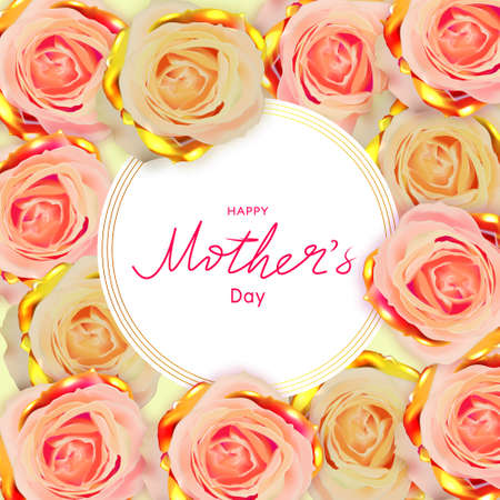 Happy Mothers Day. Spring banner.Greeting card. Standard-Bild
