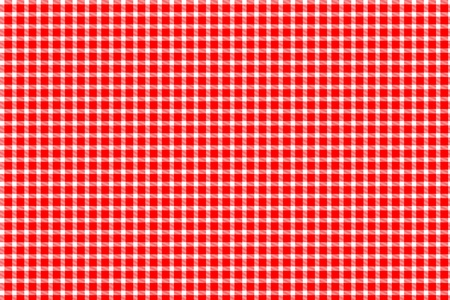 Red and white gingham - tablecloth texture photo