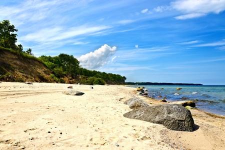 landfall: Beautiful Baltic beach on a sunny summer day