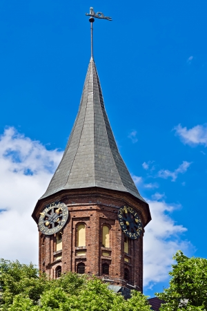 fourteenth: Tower Konigsberg Cathedral, Gothic of the 14th century, Kaliningrad, until 1946 Koenigsberg , Russia Stock Photo
