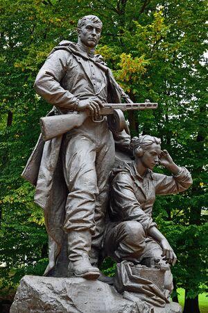 saboteur: Memorial to Warrior - scout  Victory Park, Kaliningrad  before 1946 Koenigsberg , Russia