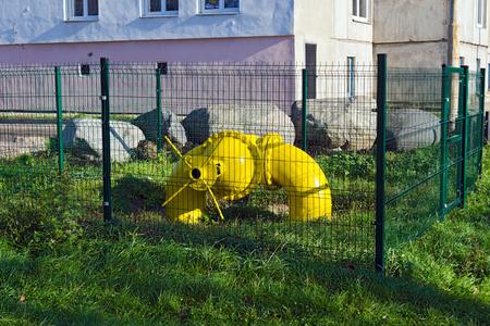 stop gate valve: Big gas pipe with valve