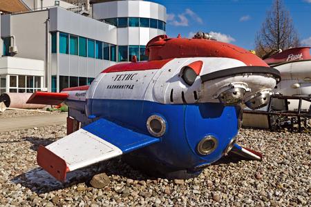 towed: Underwater inhabited vehicle Tetis, Museum of the World ocean, Kaliningrad  until 1946 Koenigsberg , Russia Stock Photo