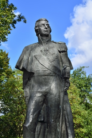 mikhail: Monument to the great Russian commander Mikhail Illarionovich Kutuzov, Kaliningrad  Koenigsberg before 1946 , Russia Stock Photo