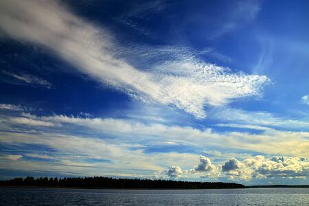 windless: Romantic sunset on the White sea, North Karelia, Russia