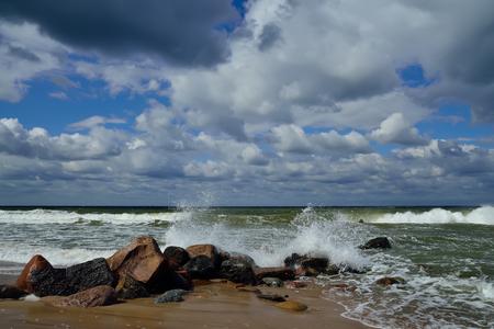 Beautiful storm Baltic sea photo