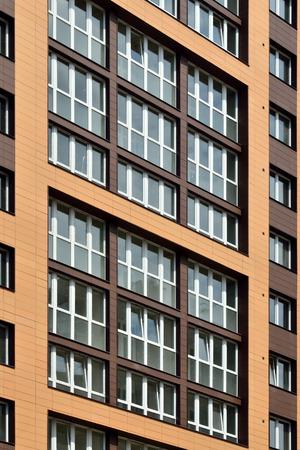 Fragment of new buildings with glazed loggias Standard-Bild
