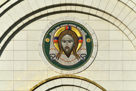 saviour: Gateway icon of the Cathedral of Christ the Saviour. Kaliningrad (formerly Koenigsberg), Russia
