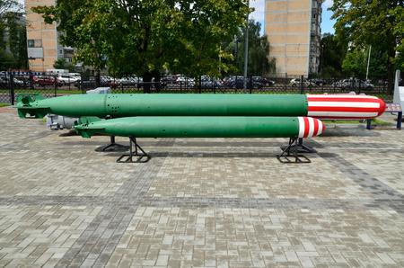 propelled: Soviet anti-submarine homing torpedoes. Kaliningrad (formerly Koenigsberg), Russia