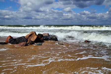 landfall: Stormy Baltic Stock Photo