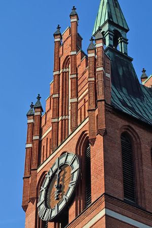 neogothic: Church of the Holy family, neo-Gothic beginning of the 20th century. Kaliningrad (until 1946 Koenigsberg), Russia Stock Photo