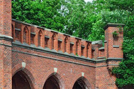 strengthening: Rossgarten Gate - fortified strengthening of Koenigsberg. Kaliningrad (until 1946 Koenigsberg), Russia